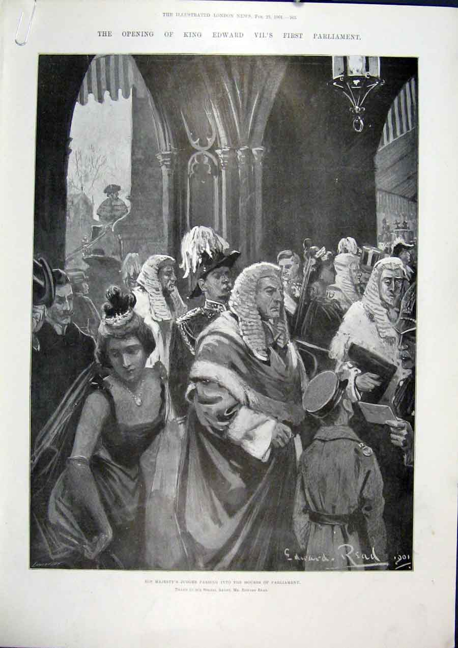 Print Judges Houses Parliament Fawkes Westminster Palace 1901 65Amaa0 Old Original