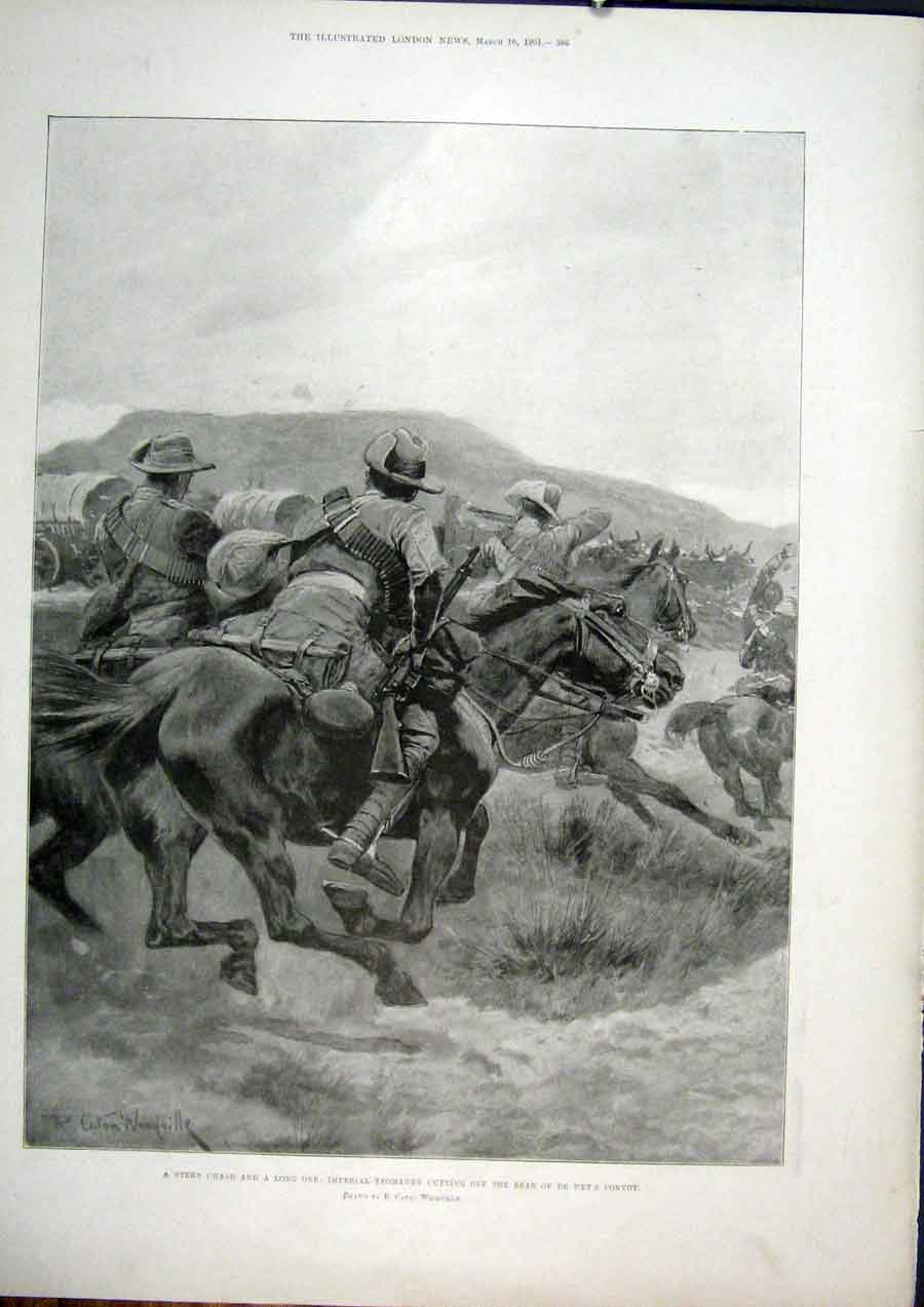 Print Yeomanry Wet Convoy Horse Army Cavalry 86Maa0 Old Original