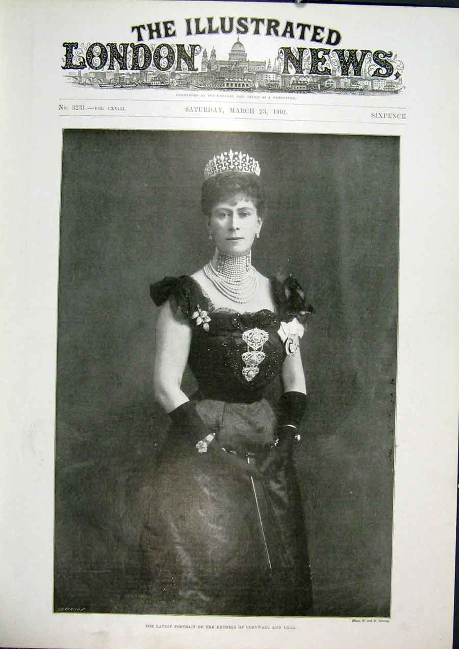Print Portrait Duchess Cornwall York Fine Art 1901 08Maa0 Old Original