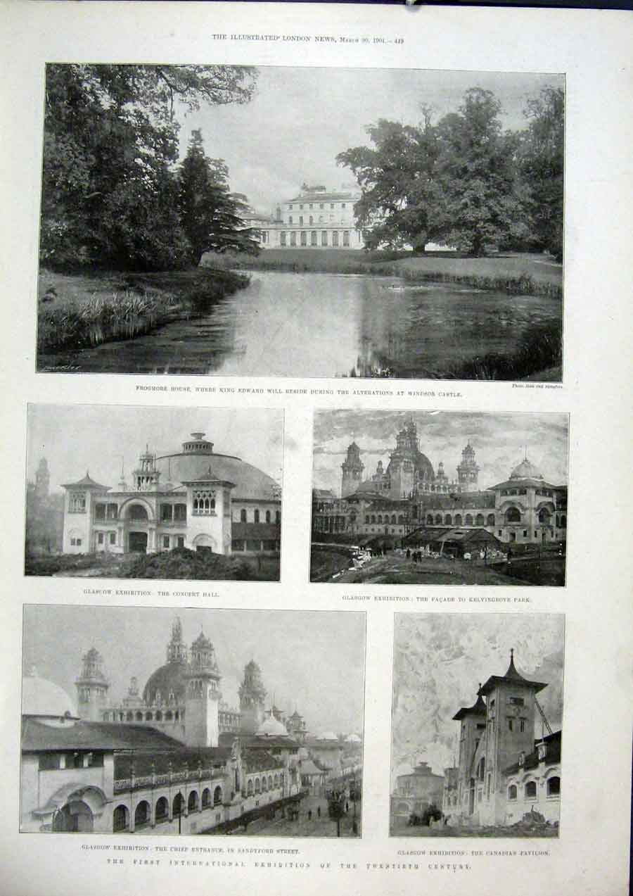 Print Frogmore Windsor Castle Glasgow Exhibition Kelvingrove 49Maa0 Old Original