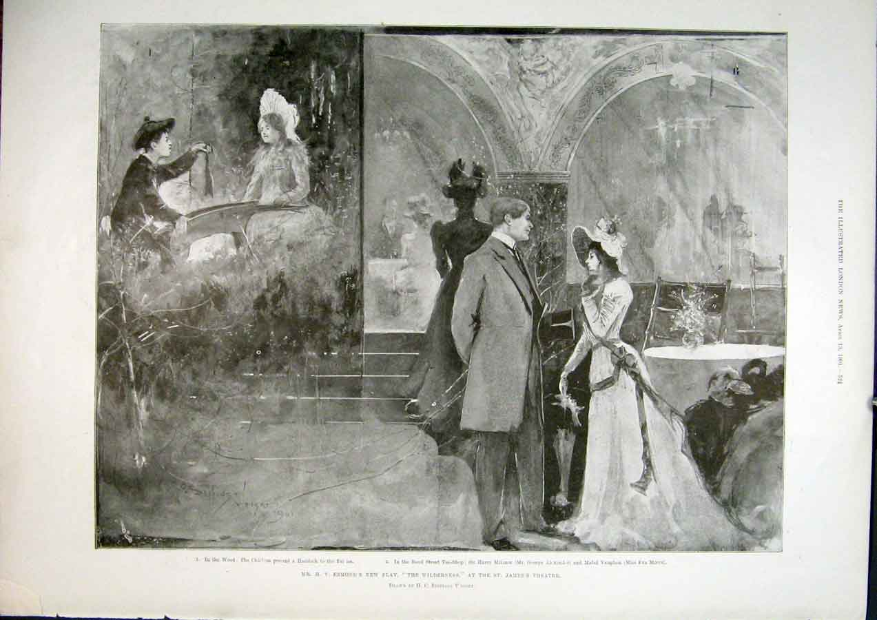 Print Esmond Wilderness Jame'S Theatre 1901 24Maa0 Old Original