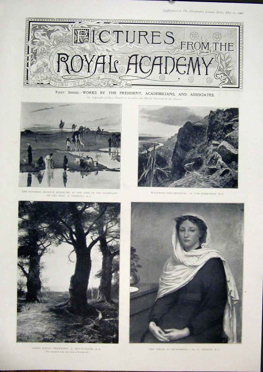 Print Royal Academy Pictures Fine Art 1902 Artists 63Amaa0 Old Original
