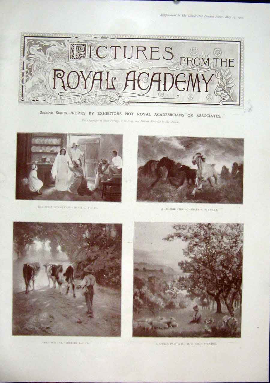 Print Pictures Royal Academy Fine Art 1902 Artists 64Amaa0 Old Original