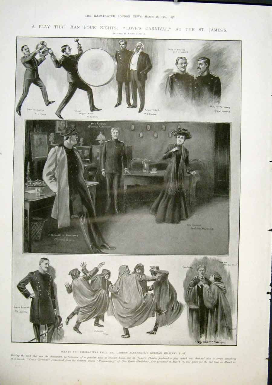 Print St Jame'S Theatre London Play Love'S Carnival Alexander 58Maa0 Old Original