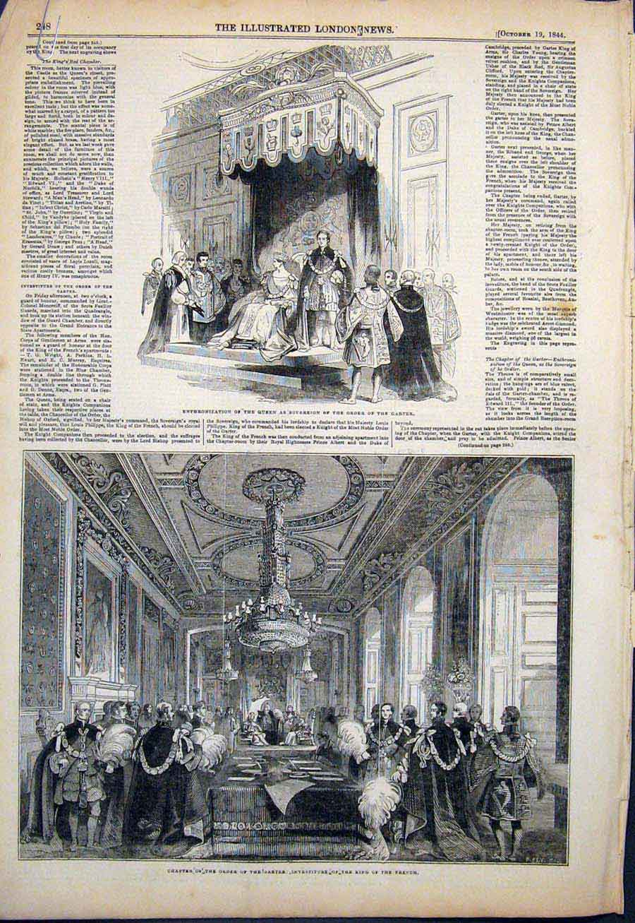 Print Order Garter Queen Banquet St George'S Hall London 48Amaa1 Old Original