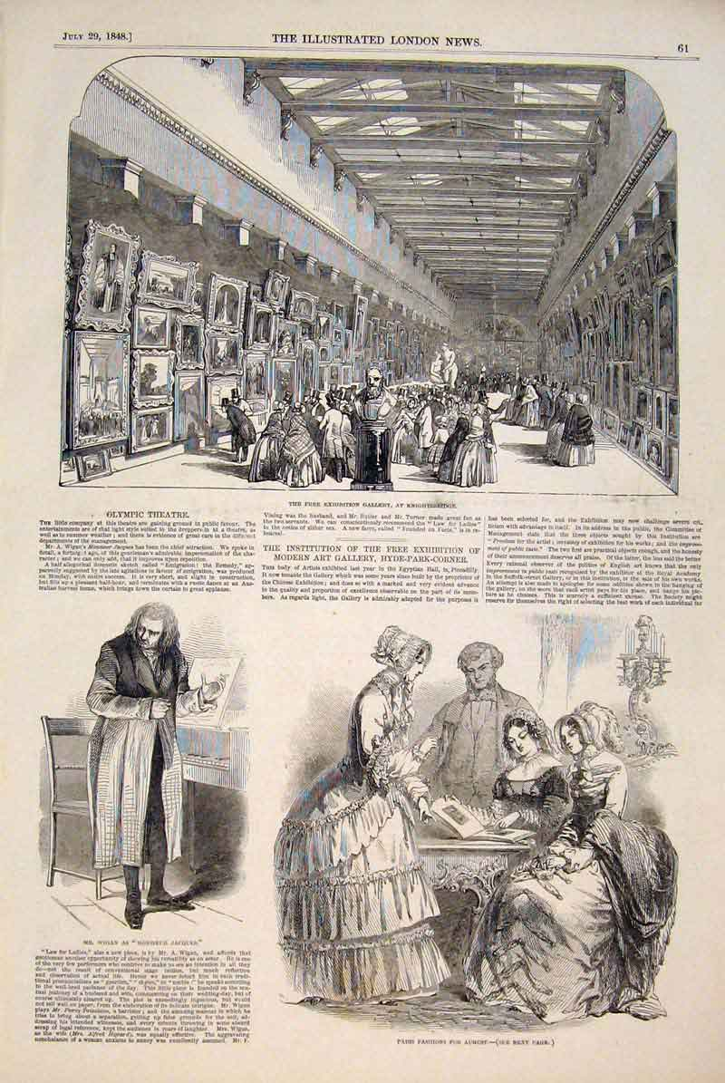 Print Knightsbridge Exhibition Gallery Paris Fashions Wigan 61Maa1 Old Original