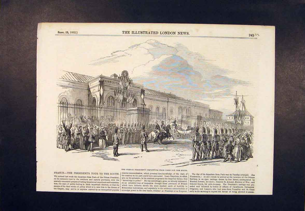 Print French President Paris France 1852 49Umaa1 Old Original