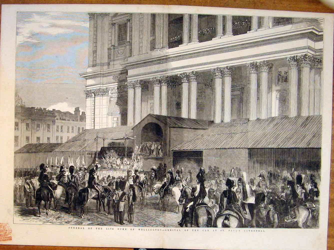 Print Funeral Duke Wellington St Paul'S Cathedral London 1852 27Tmaa1 Old Original