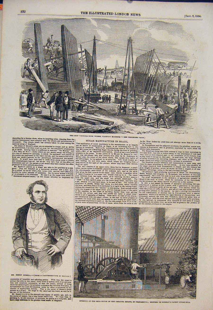 Print Victoria Plaistow Marshes Russell De Mornay Sugar Mill 32Maa1 Old Original
