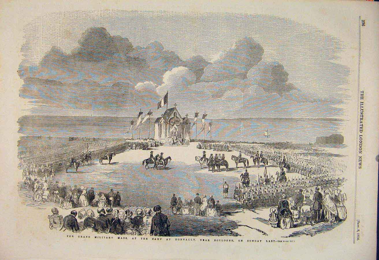 Print Military Service Camp Honvault Boulogne 1854 36Maa1 Old Original