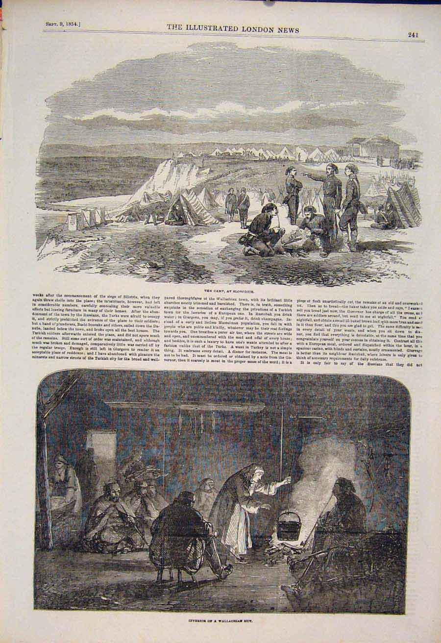 Print Camp Slobodzie Wallachian Russia Military 1854 41Maa1 Old Original