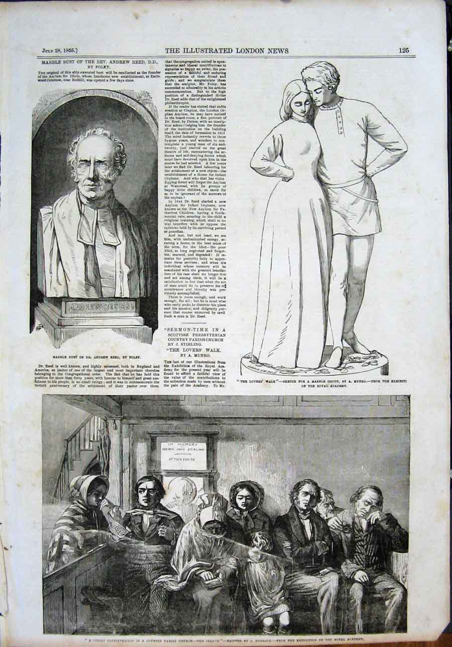 Print Reed Foley Munro Sketch Presbyterians Church Stirling 25Maa1 Old Original