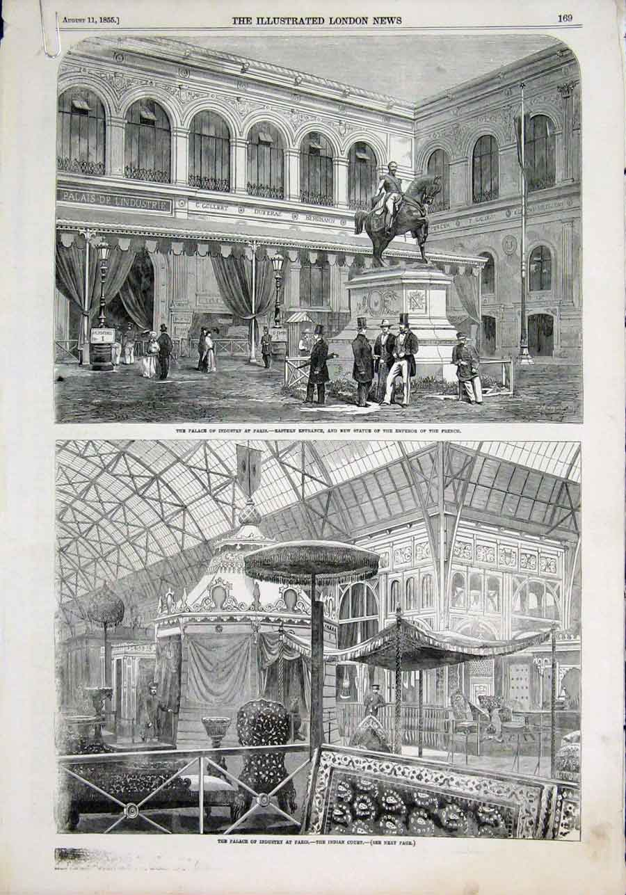 Print Palace Industry Paris Indian Court Glass Manufacturer 69Amaa1 Old Original