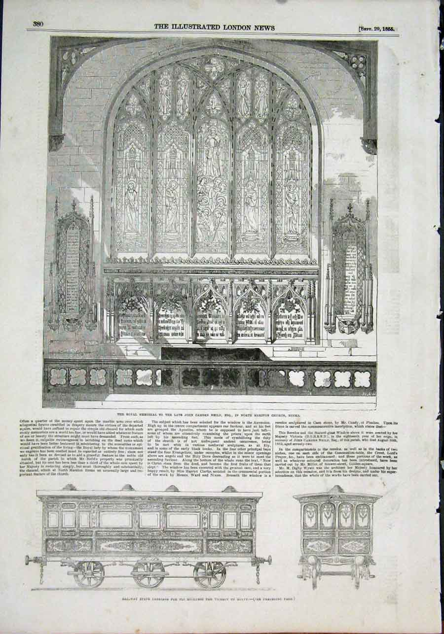 Print Neild Marston Church Railway Carriage Viceroy Egypt 80Maa1 Old Original