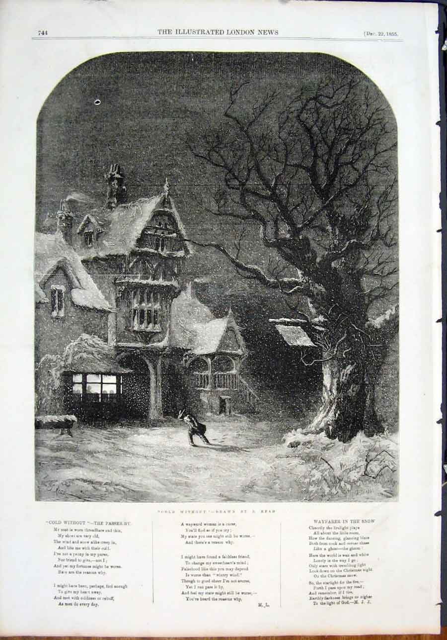 Print Cwithout Snow Storm Read Fine Art 1855 44Maa1 Old Original