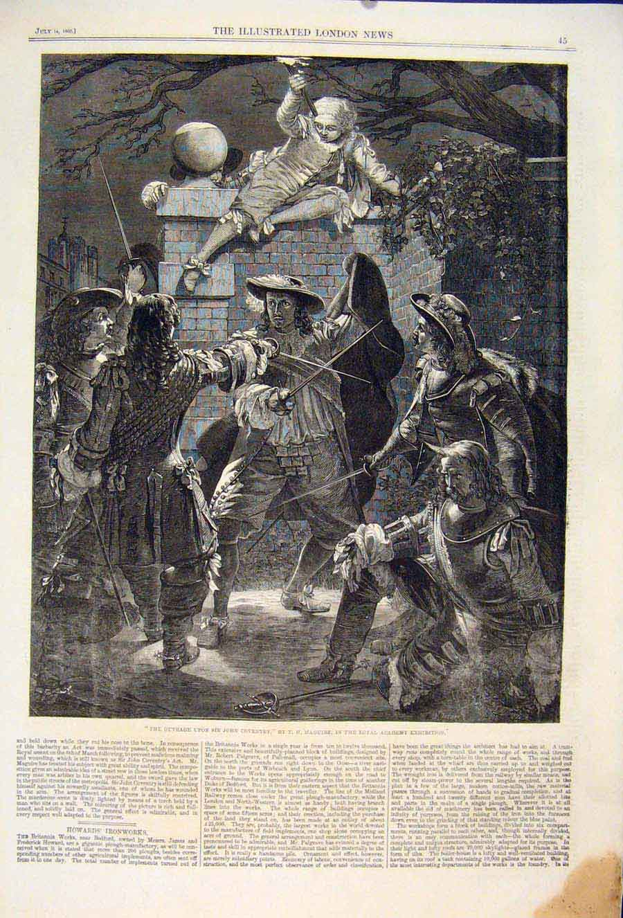 Print Coventry Maguire Outrage Fine Art 1860 45Maa1 Old Original