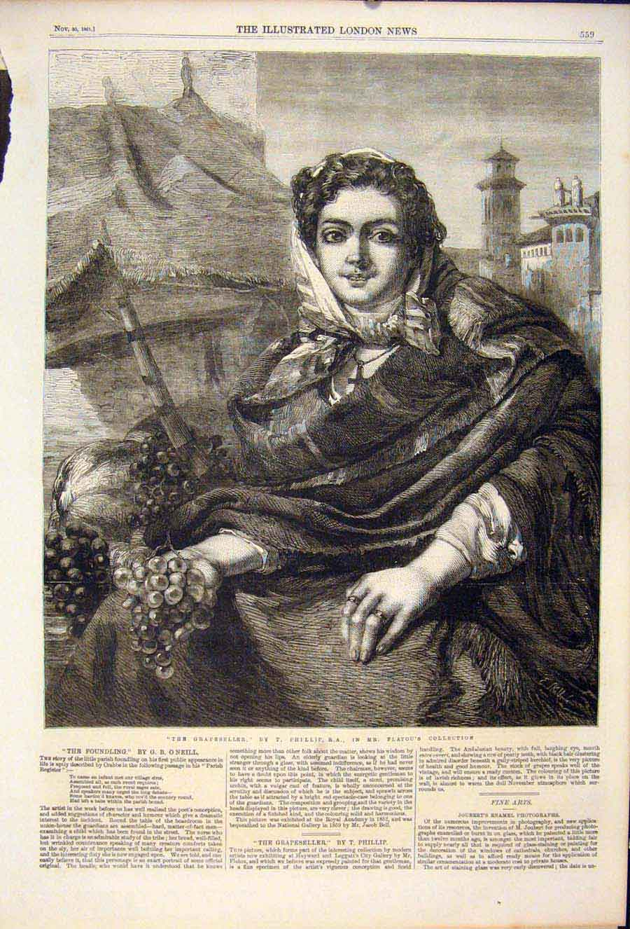 Print Grapeseller Grape Seller Phillip Flatou Fine Art 1861 59Maa1 Old Original
