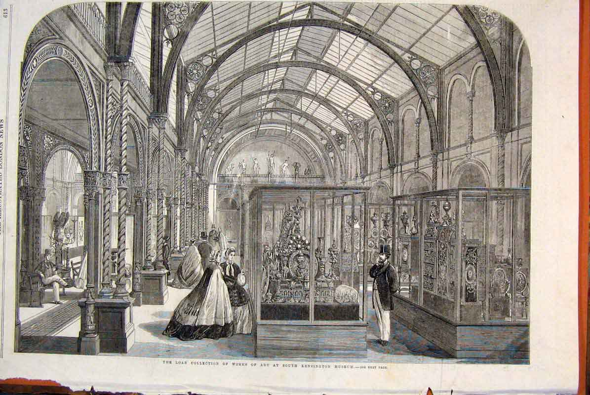 Print Loan Collection Art Works Kensington Museum 1862 13Maa1 Old Original