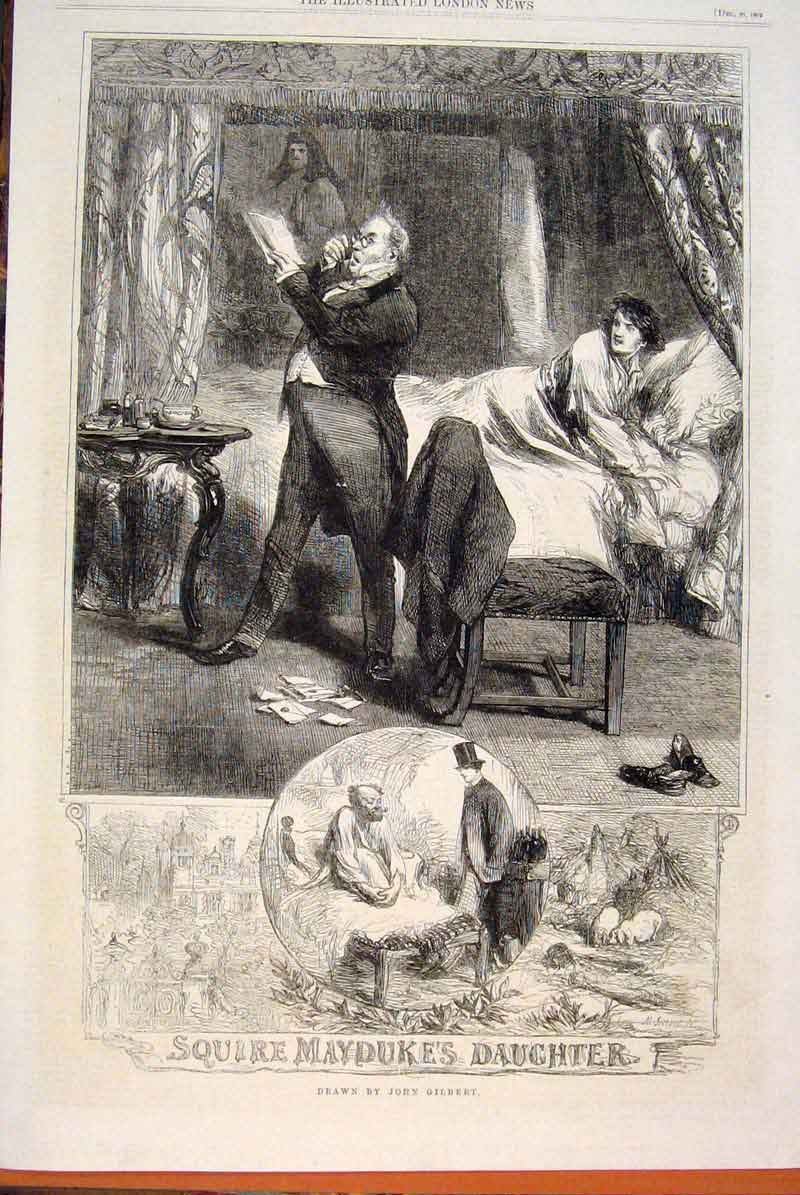 Print Squire Mayduke Daughter Gilbert Sketches 1862 64Maa1 Old Original