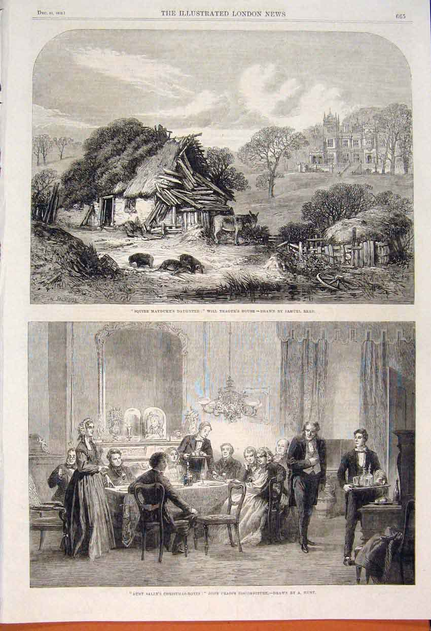 Print Read Will Teague House Hunt Christmas Boxes Crass 1862 65Maa1 Old Original