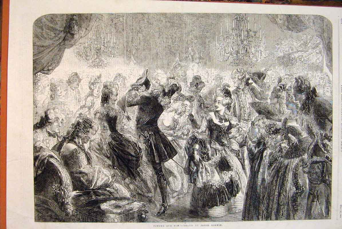 Print Powder Puff James Godwin Ball Dance Fine Art 1862 76Maa1 Old Original