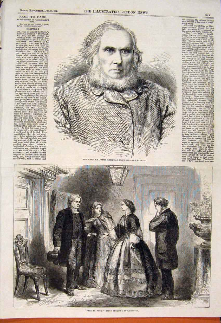 Print Portrait Knowles Effie Blount Face To Face 1862 77Maa1 Old Original