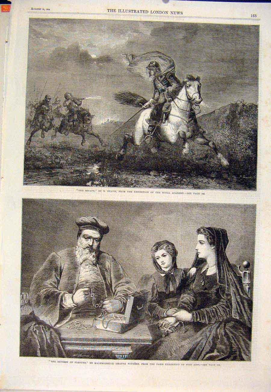 Print Beasis Painting Royal Gougere Paris Exhibition 1864 65Maa1 Old Original