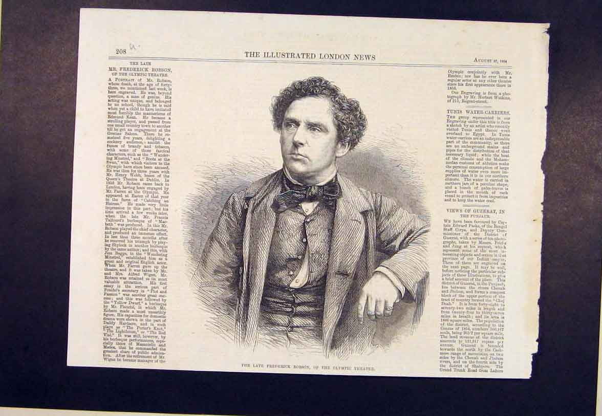 Print Portrait Robson Olympic Theatre 1864 08Umaa1 Old Original