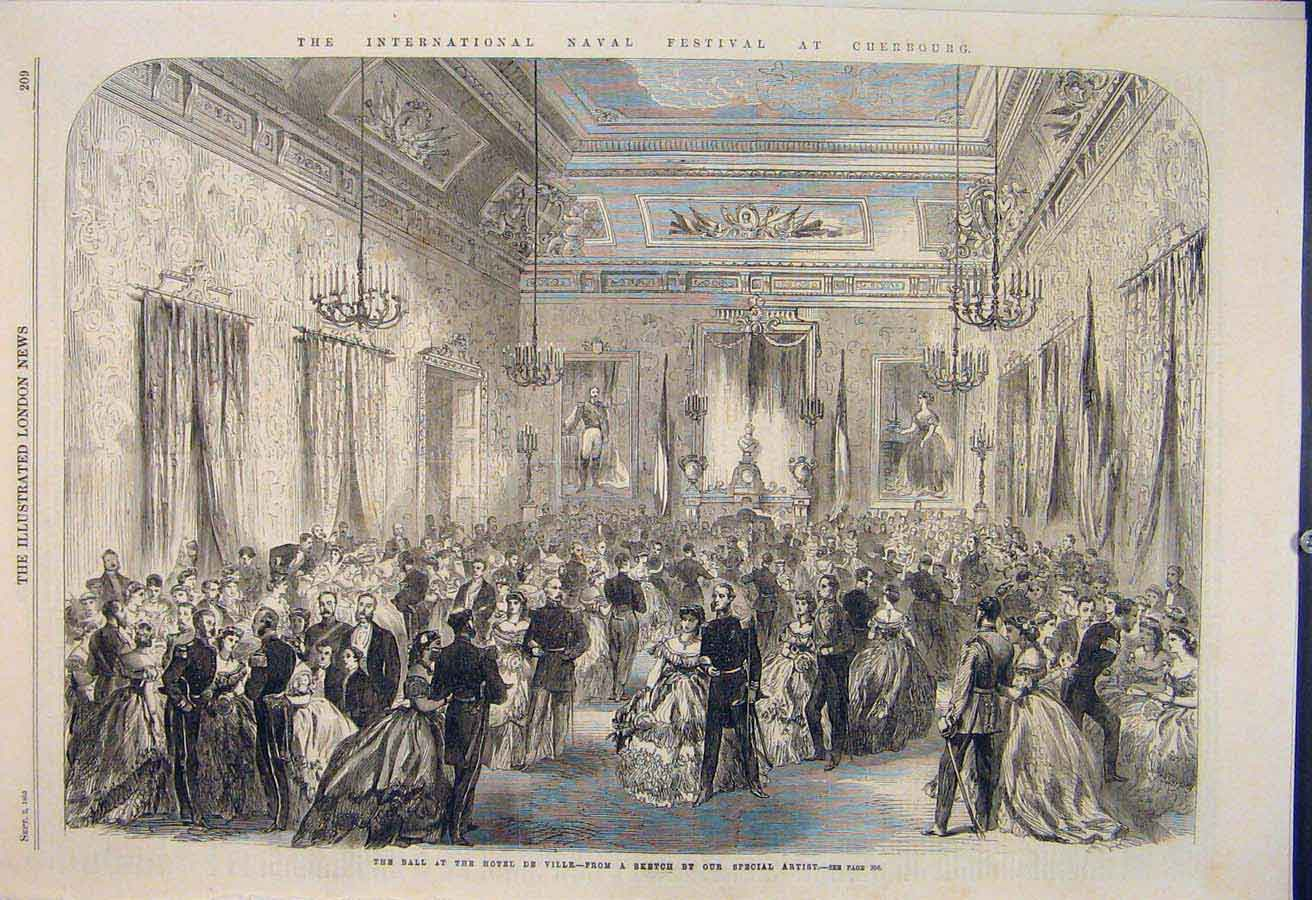 Print International Nbaval Festival Cherbourg Yacht Banquet 09Amaa1 Old Original