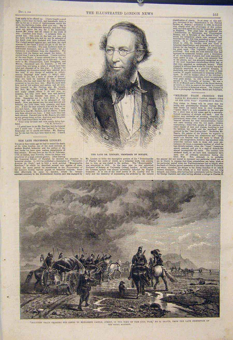 Print Portrait Lindley Botany Militray Train Civil War Beavis 53Maa1 Old Original