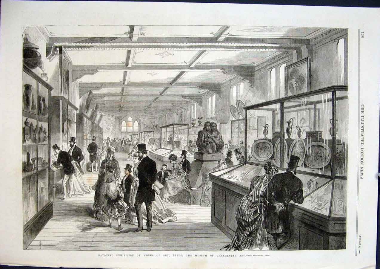 Print Leeds Museum Ornamental Art Exhibition 1868 28Maa1 Old Original