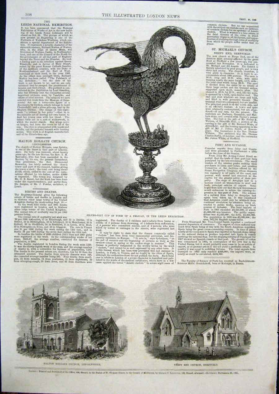 Print Cup Pelican Leeds Halton Holgate Church Neeps Sheffield 08Maa1 Old Original