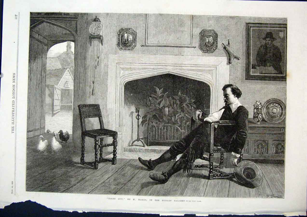 Print Tired Out Marks Dudley Gallery Fine Art 1868 17Maa1 Old Original