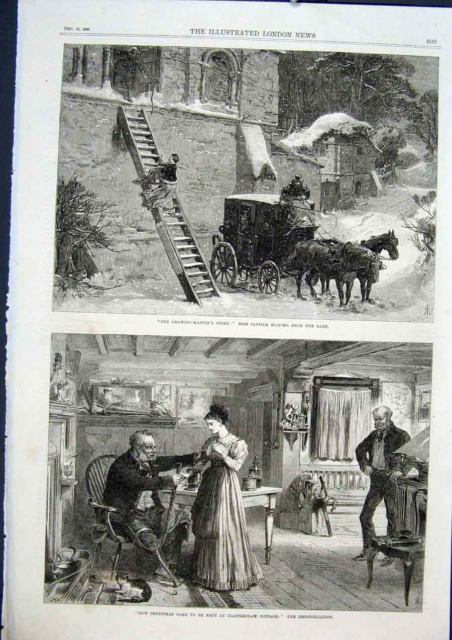 Print Canham Elope Barn Clapperclaw Cottage Fine Art 1868 09Maa1 Old Original