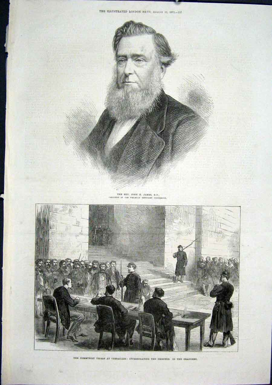 Print Portrait James Versailles Orangery Communist Trail 1871 57Maa1 Old Original