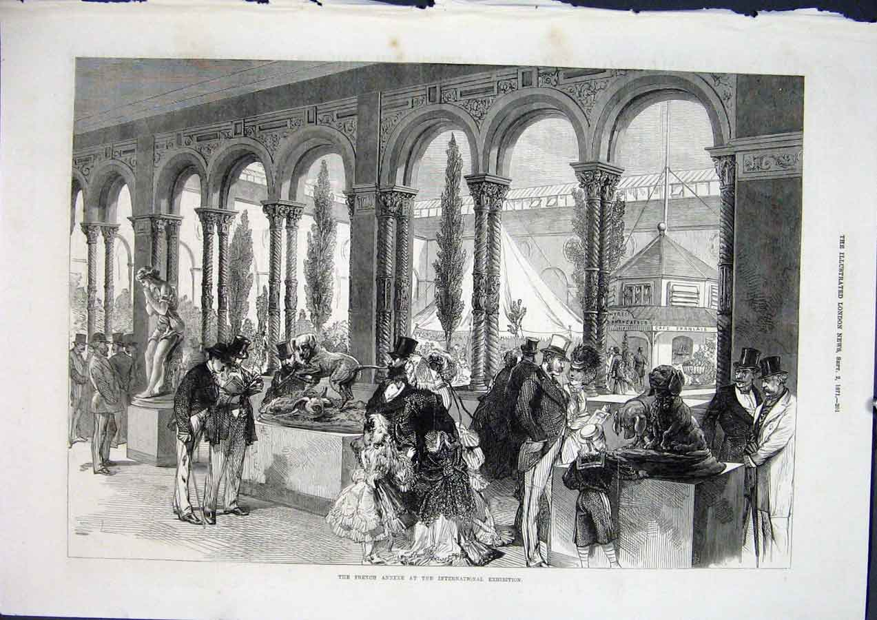 Print French Annexe International Exhibition London 1871 01Maa1 Old Original