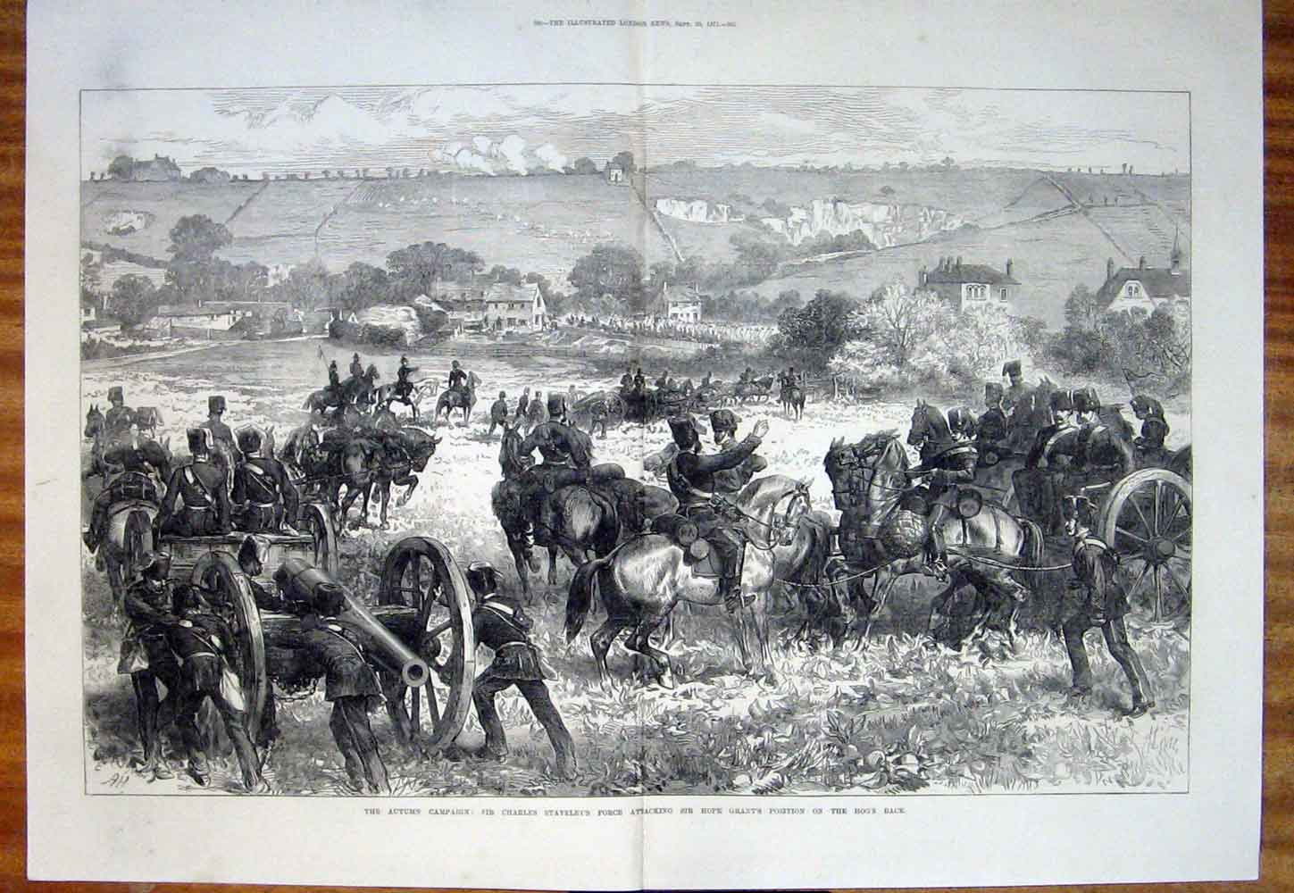 Print Staveley Grant Hog'S Back Campaign War 1871 99Tmaa1 Old Original