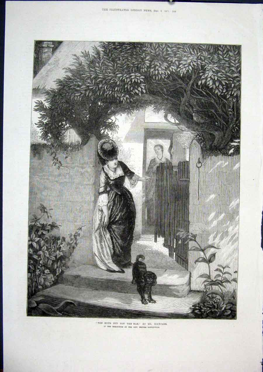 Print Hour Man Holyoake British Institution Fine Art 1871 48Maa1 Old Original