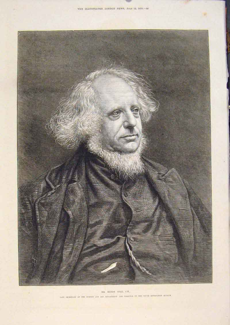 Print Portrait Cole Secretary Science Director Museum 1873 36Maa1 Old Original