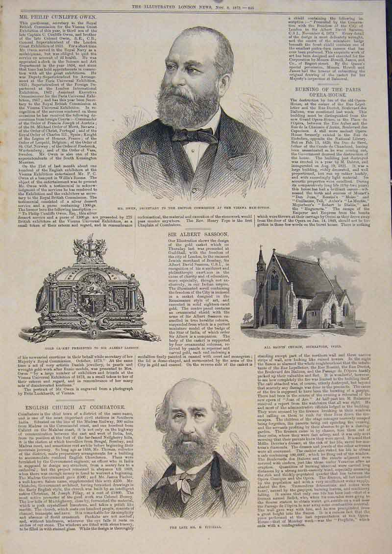 Print Portrait Owen Fitzball Church India Gcasket Sassoon 45Maa1 Old Original