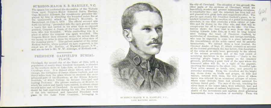 Print Portrait Hartley Cape Rifles Surgeon Victoria Cross 01Mmaa1 Old Original