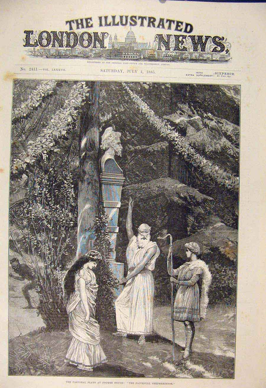 Print Coombe House Shepherdesse Pastorial Play Theatre 1885 02Maa1 Old Original