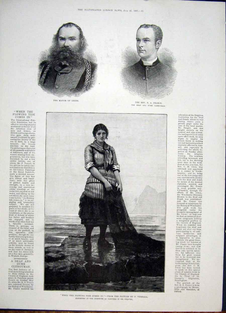 Print Portrait Mayor Leeds Pearce Verrall Tide Fisheries Art 85Maa1 Old Original