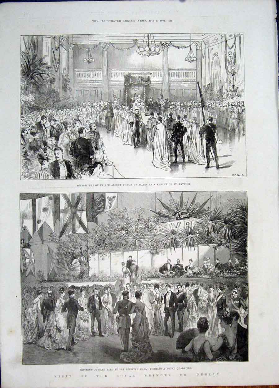 Print St Patrick Victor Knight Jubilee Ball Leinster Dublin 36Maa1 Old Original