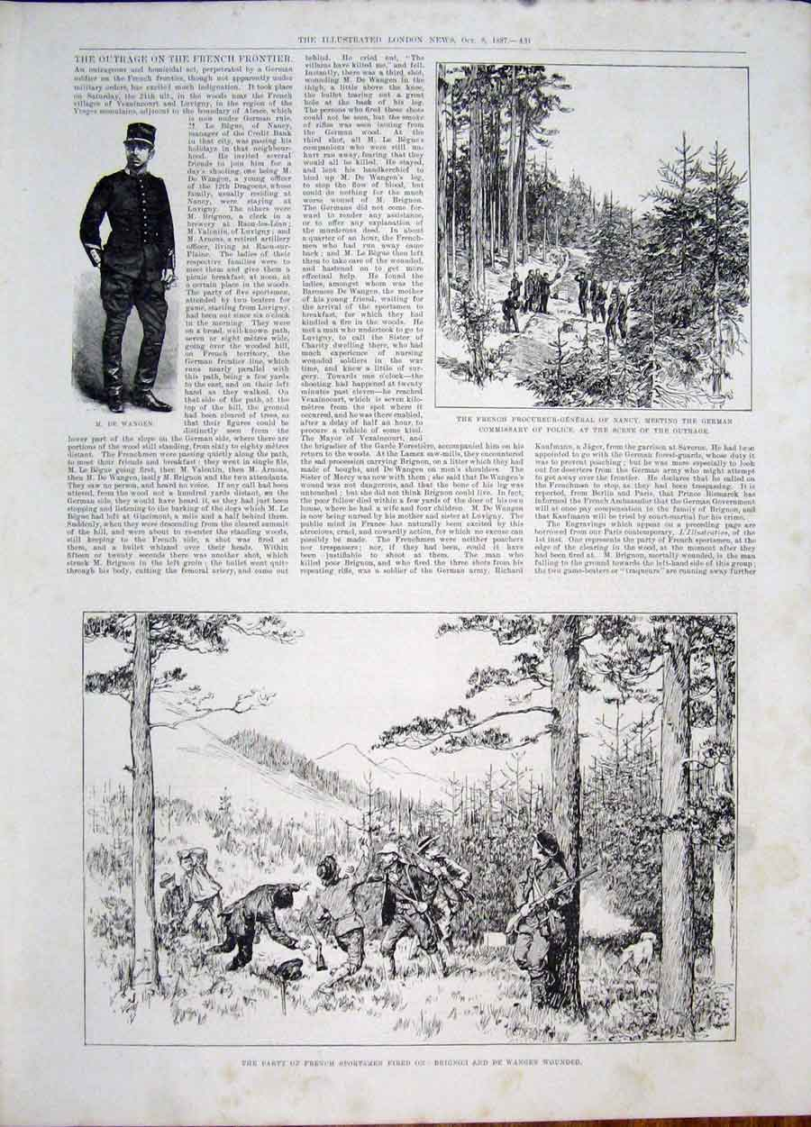 Print Wangen Nancy France Brignon French Sportsmen 31Maa1 Old Original