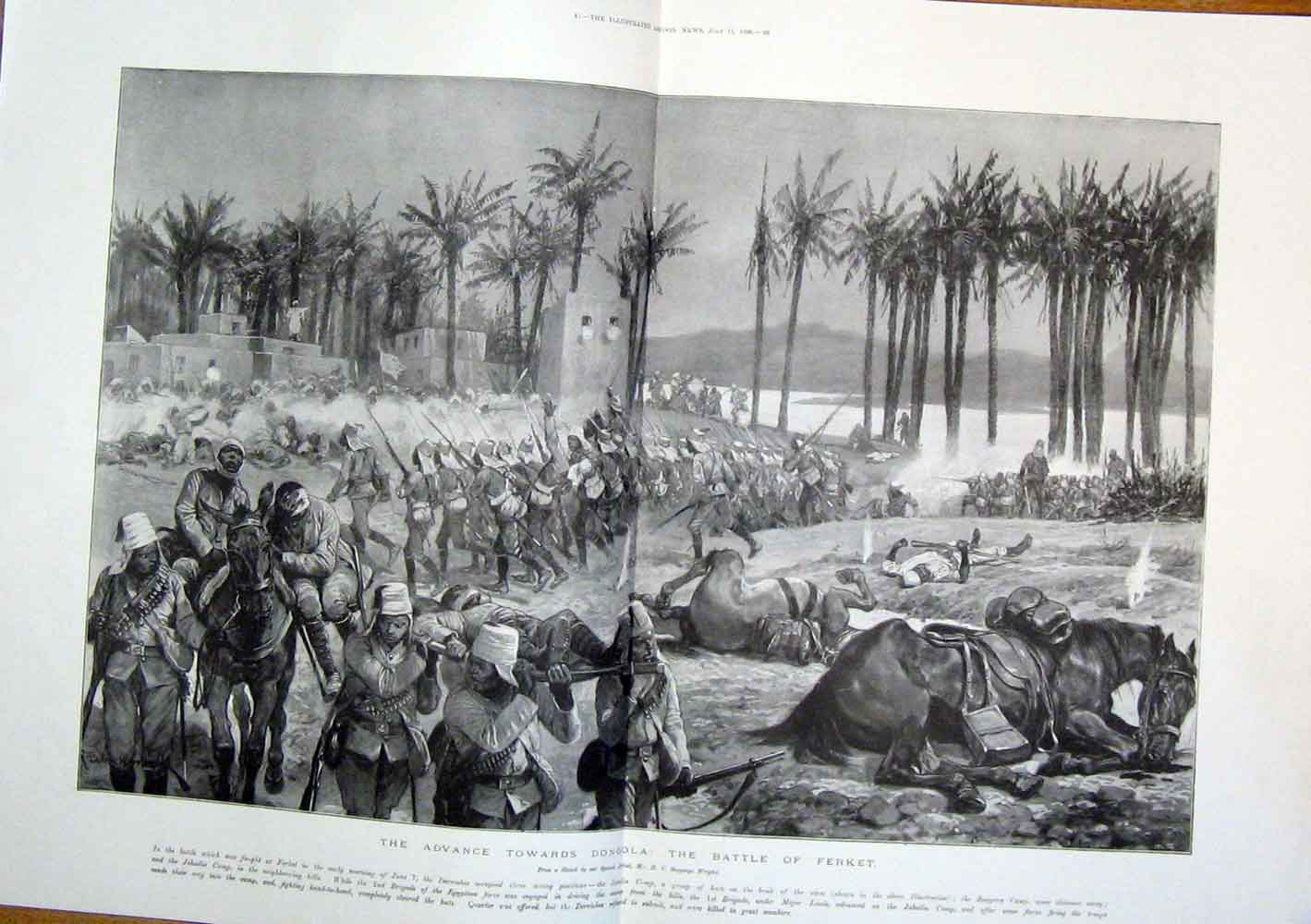 Print Dongola War Ferket Battle 1896 Egypt 47Tmaa1 Old Original
