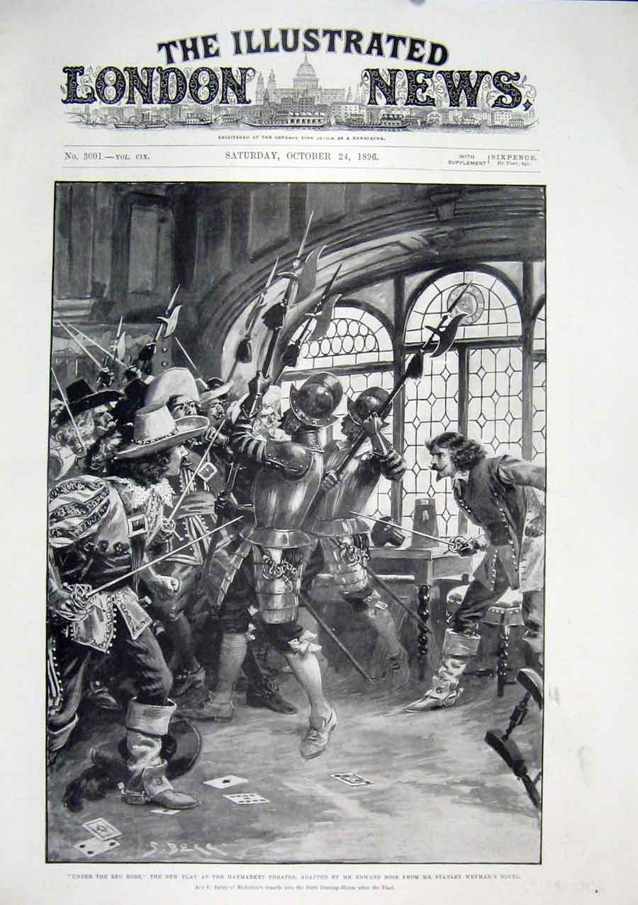 Print Haymarket Theatre London Edward Rose Stanley William 30Maa1 Old Original