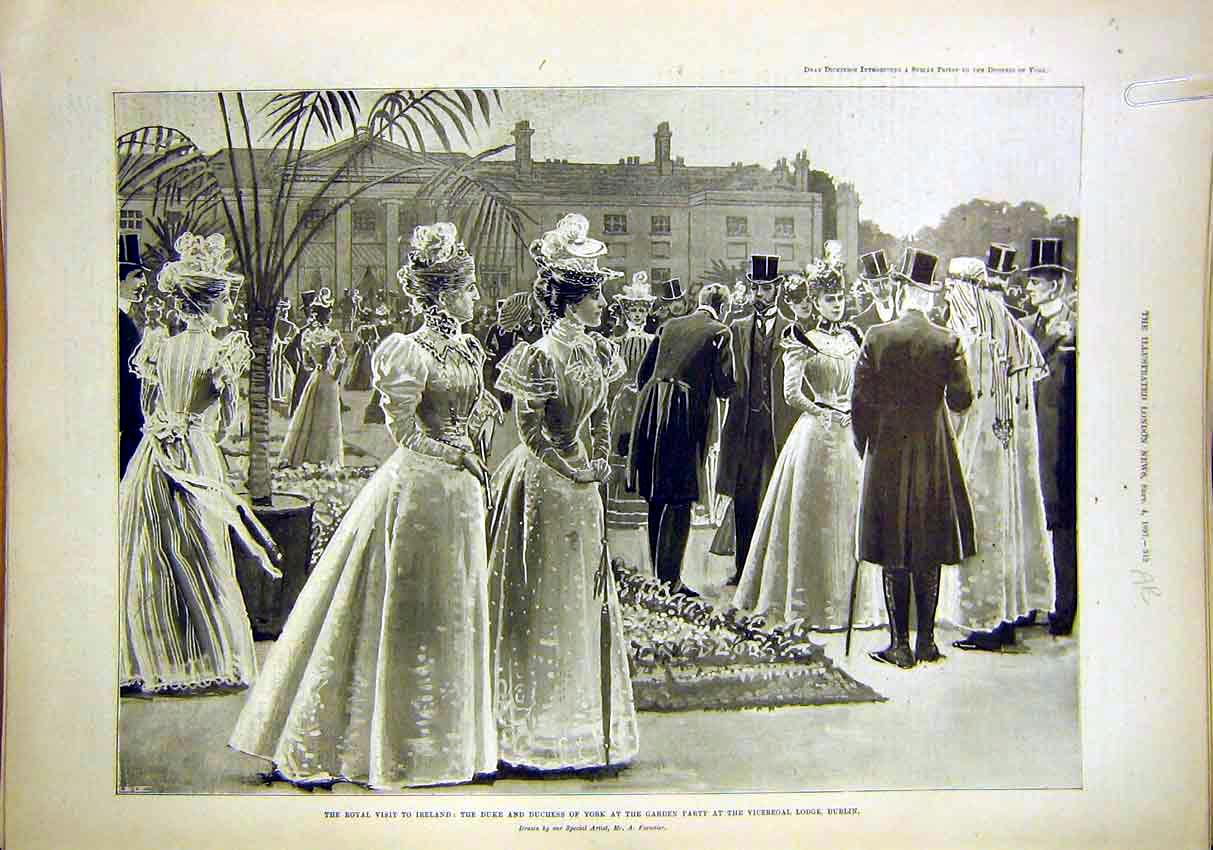 Print Ireland Royal Visit Duke Duchess York Dublin 1897 12Amaa1 Old Original