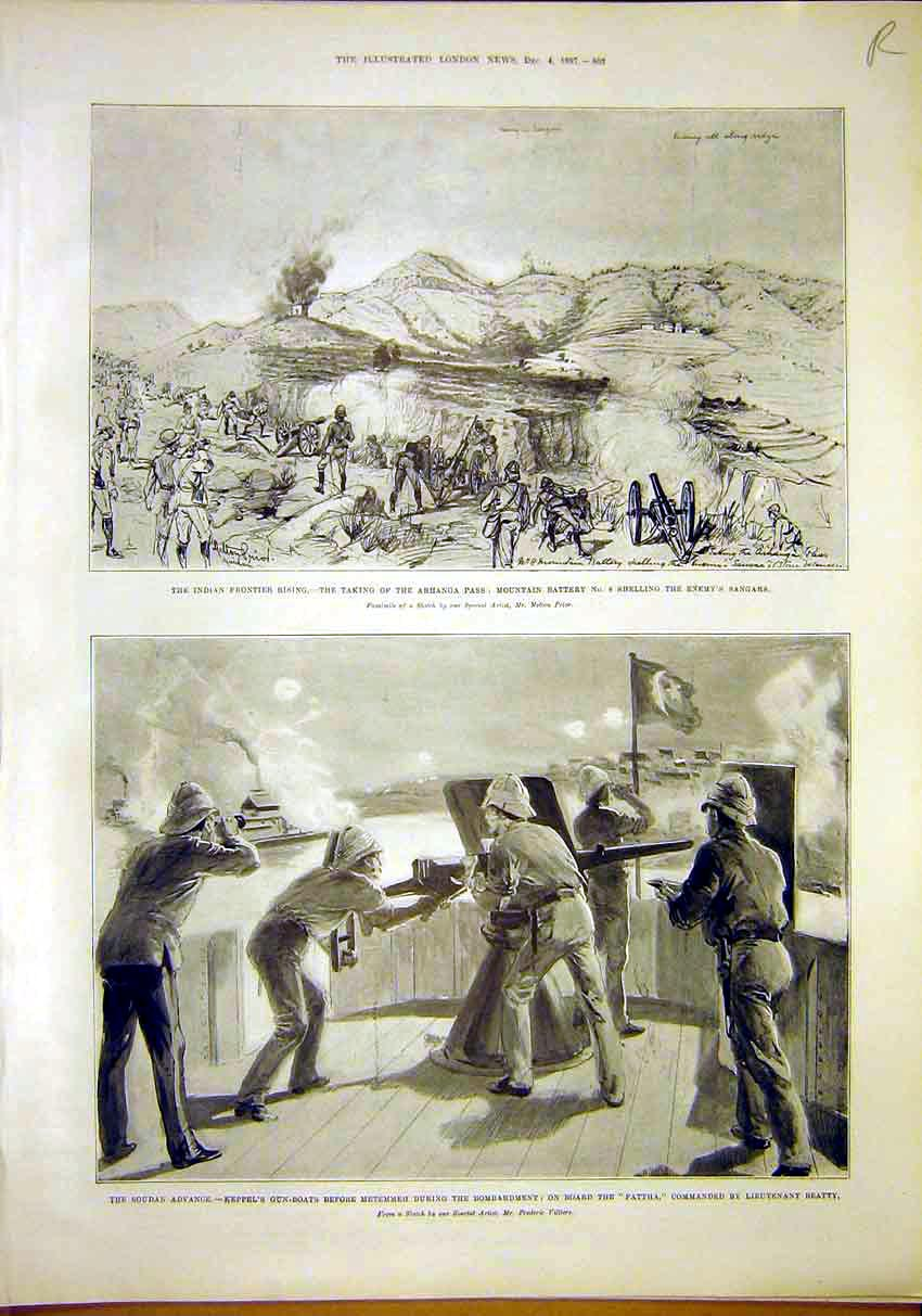 Print Indian Frontier Soudan Advance Keppel Villliers 1897 03Rmaa1 Old Original