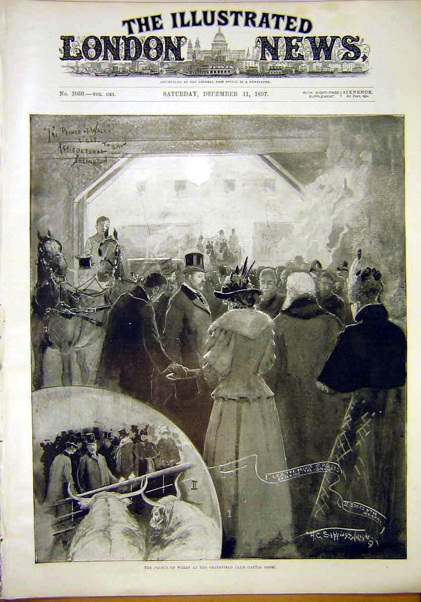 Print Prince Wales Royal Smithfield Club Cattle Wright 1897 31Maa1 Old Original